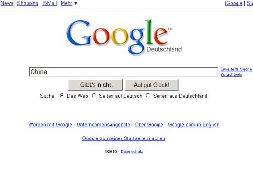 Spiegel Spam Google China